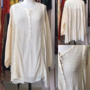 Free People Ivory Swing Tunic